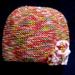 Girls rainbow hat size 1-2yrs