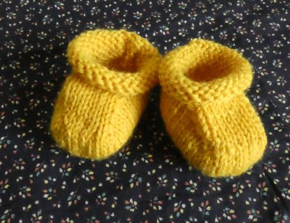 Knitted Baby Booties pure wool