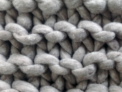 Chunky Natural Grey Merino Throw