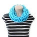 Chunky Knit Turquoise Infinity Scarf