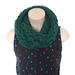 Chunky Forest Green Merino Infinity Scarf