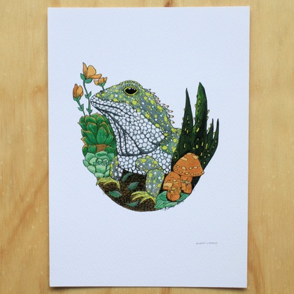 Tuatara Two' A4 Fine Art Print