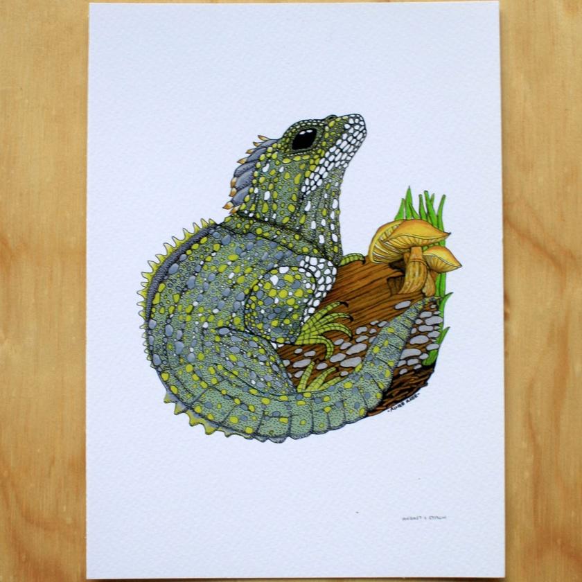 'Tuatara' A4 Fine Art Print