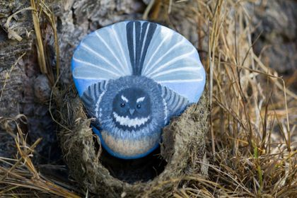 Fantail Painted Rock