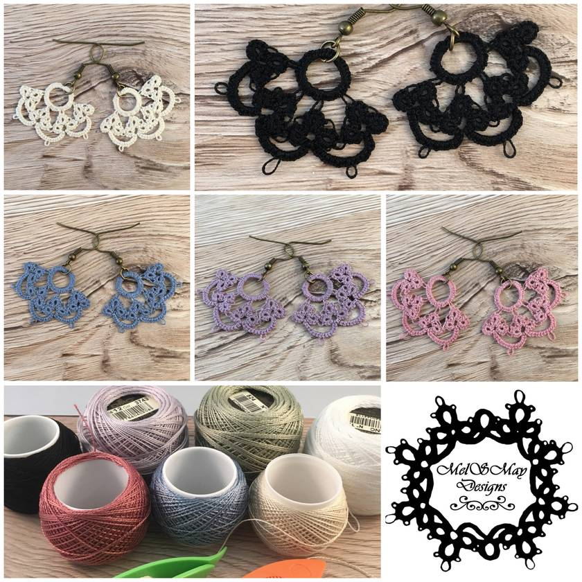 Tatted Lace Earrings – Summer Fling [multiple colour options]