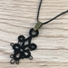 6 Leaf Clover  Tatted Lace Pendant