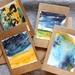 Original watercolour art mini cards (plus envelopes)