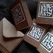 Handmade mini cards - Linocut print