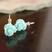 Aqua Rose Earrings