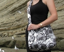Handmade fabric shoulder bag, designed and made in NZ by Alias