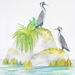 Spotted Shags - Original Framed Painting