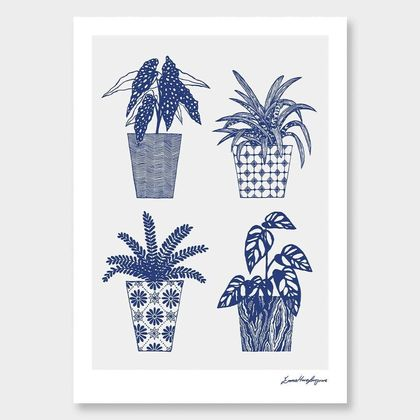 """Funky Fronds"" A4 Print"
