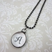 Handmade Glass Letter Pendant With Chain