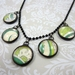 Handmade glass pendant necklace