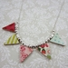Handmade Bunting necklace
