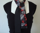 Black fern and black silk scarf