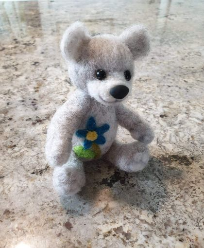 Needle felted Teddy Bear collectable sculpt