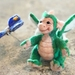 Needle felted Green Dragonet collectable sculpt