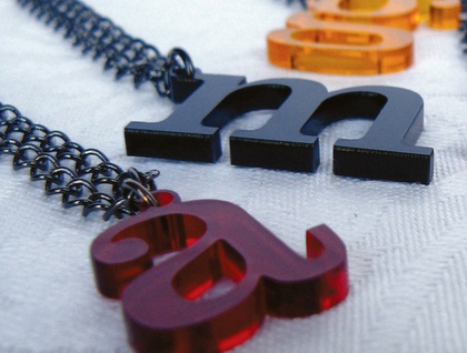 Alphabet Soup Necklaces