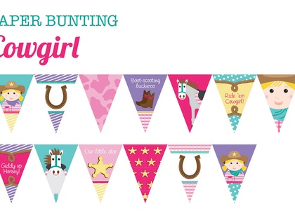 Paper Bunting - COWGIRL