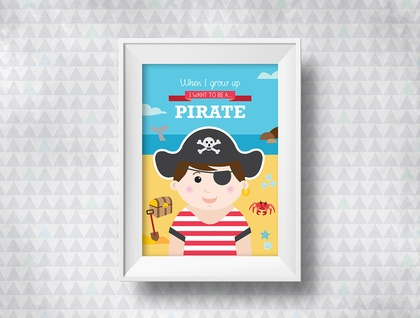 When I grow up - Pirate Print