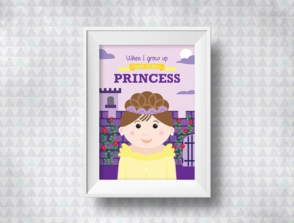 When I grow up - Princess Print