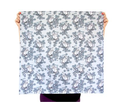 Reusable Fabric Gift Wrap - Ruru Blue