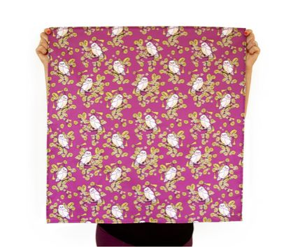Reusable Fabric Gift Wrap - Ruru Fuschia