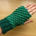 Shades of greens fingerless gloves