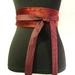 Shades of crimson upcycled tie belt