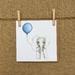 Elephant & Blue Balloon Card