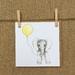 Elephant & Yellow Balloon Card