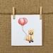 Fox & Balloon Card