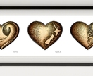 Hearts Three - State of Hearts Print. FRAMED In colour or black & white