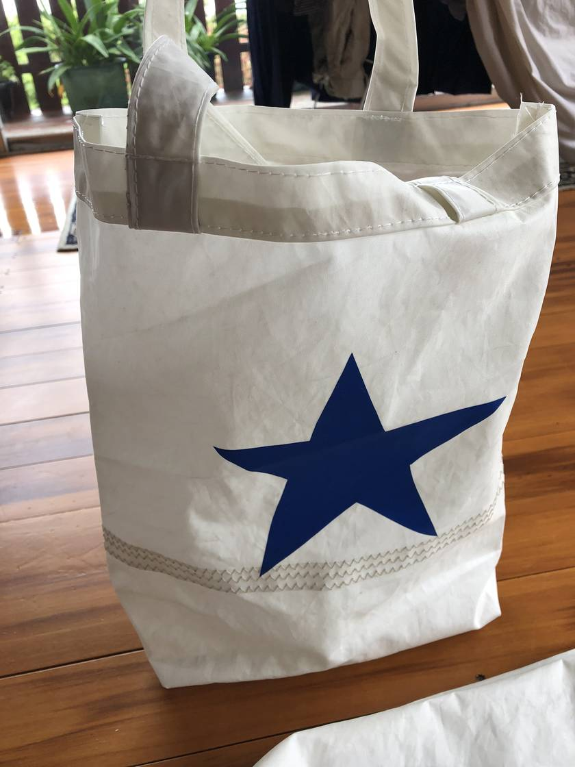 Recycled sail carry bag