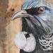Tui close up - beautiful original art on recycled timber!