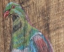 Kereru - beautiful original art on recycled timber!