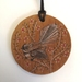 Hand drawn Fantail necklace