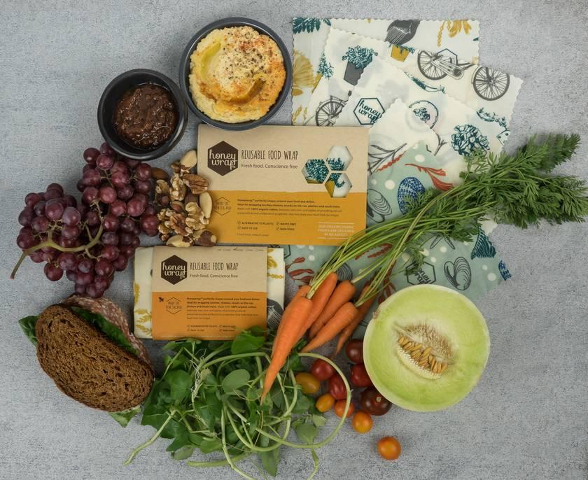 Honeywrap 3pk - Natural Reusable Food Wrap