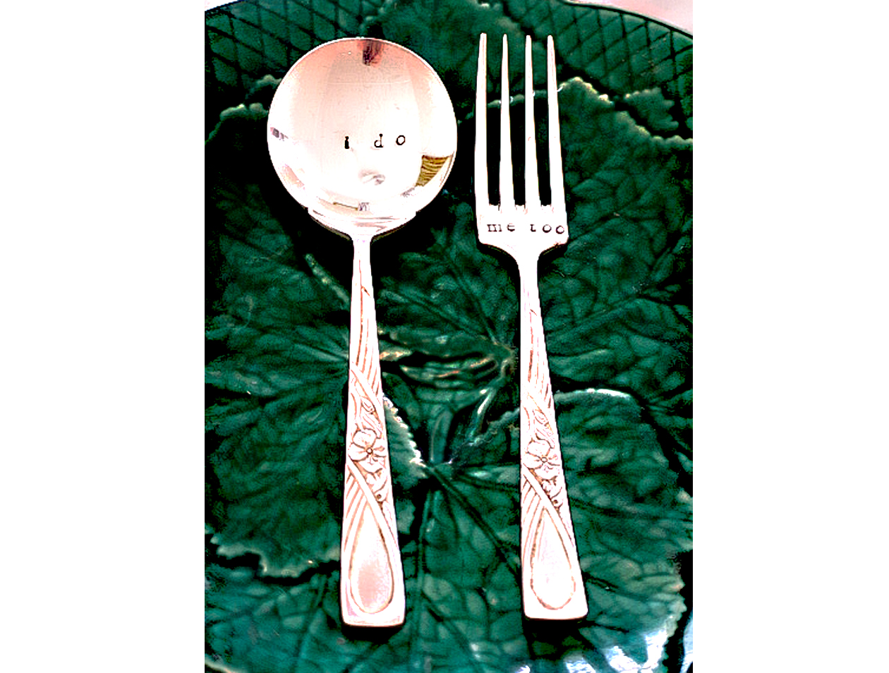 Vintage Wedding Gifts For Bride And Groom : Wedding vintage cutlery for bride and groom unique engagement gift ...