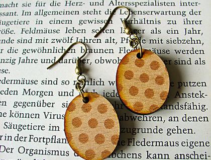 Pohutukawa tree oval earrings