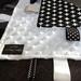 Monochrome taggie blanket