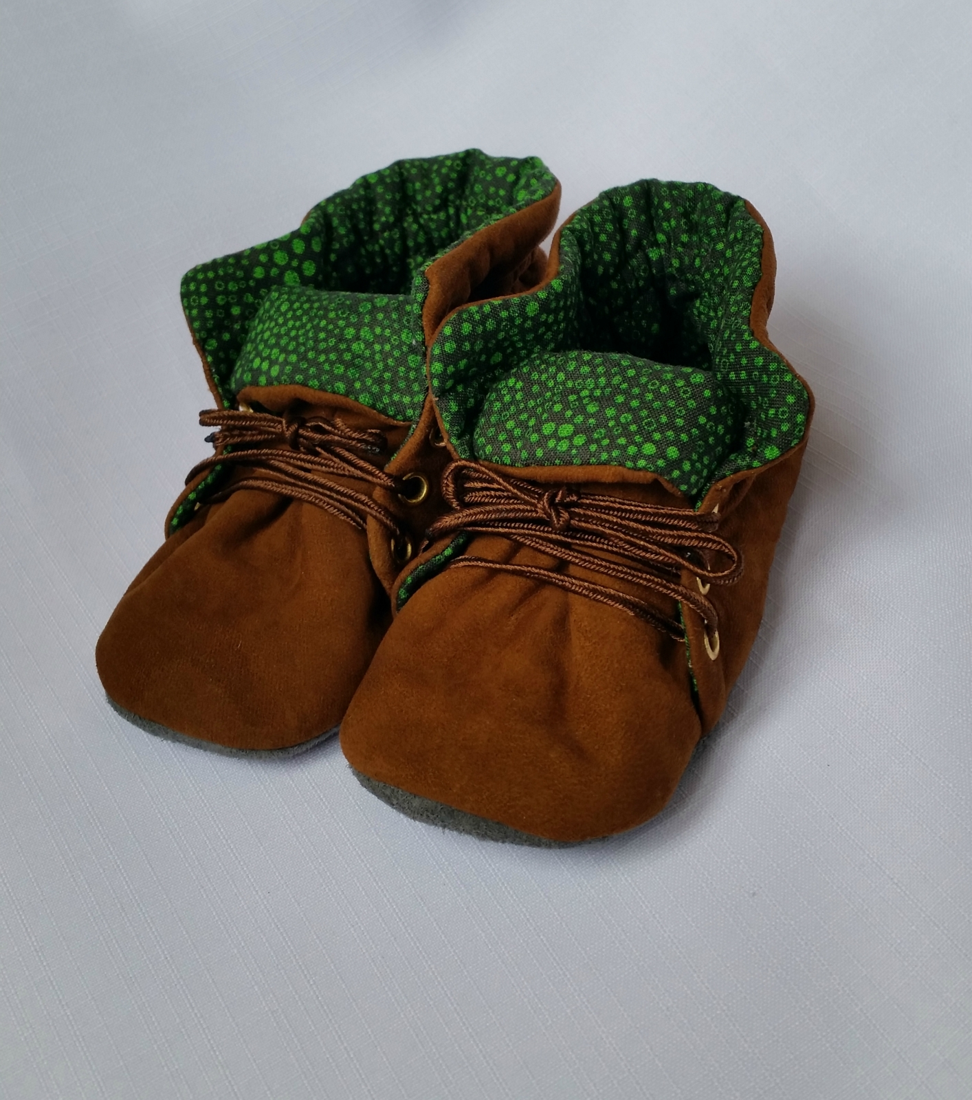 Lambskin suede soft soled baby shoes