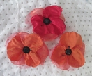 fabric poppy brooches