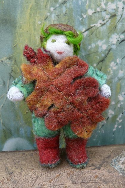 """Bush Babies"" Oak Leaf Gnome."