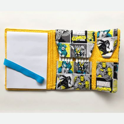 Medium Art  Pad Set -  Marvel Superhero's in Yellow