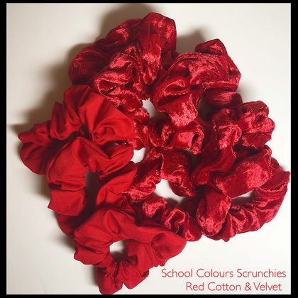 School Colours Scrunchies - RED