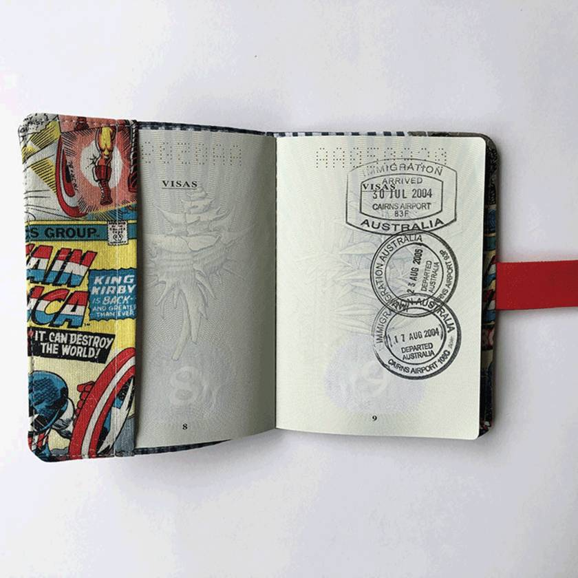 Passport Holder - Iron Man