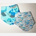 Bandana Teething Bib - 2x  Blues