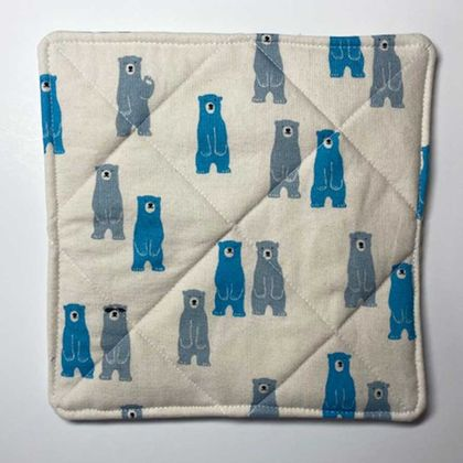 A Hand Hot Pad ~ Blue Bears